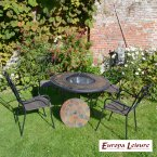 Europa Stone DURANGO Patio Table with 4 Verona Chair Set