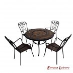 Europa Leisure Durango Patio Table & 4 Verona Chairs Set