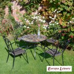Europa Stone GRANADA Patio Table with 4 Verona Chair Set