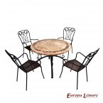 Europa Leisure Monaco Dining Table & 4 Verona Chairs Set