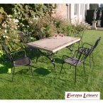 Europa Stone Monte Dining Table with 6 Verona Chair