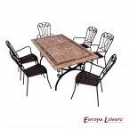 Europa Leisure Monte Carlo Dining Table & 6 Verona Chairs Set