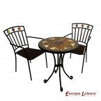 Exclusive Garden Montilla 60cm Bistro Table with 2 Malaga Chair Set