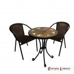 Europa Leisure Montilla Bistro Table & 2 San Luca Chairs Set