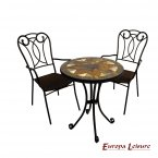 Europa Leisure Montilla Bistro Table & 2 Verona Chairs Set