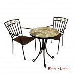 Europa Leisure Orba Bistro Table & 2 Murcia Chairs Set