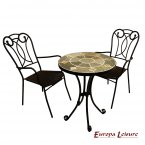 Europa Leisure Orba Bistro Table & 2 Verona Chairs Set