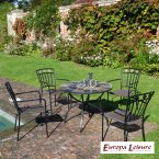 Europa Stone Pomino Patio Table with 4 Malaga Chair Set