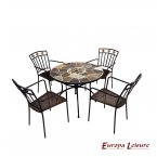 Europa Leisure Pomino Patio Table & 4 Malaga Chairs Set
