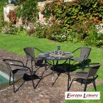 Europa Stone Pomino Patio Table with 4 San Luca Chair Set
