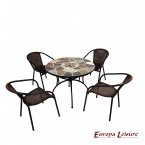 Europa Leisure Pomino Patio Table & 4 San Luca Chairs Set