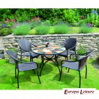 Europa Stone Pomino Patio Table with 4 San Tropez Chair Set