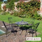 Europa Stone Pomino Patio Table with 4 Verona Chair Set
