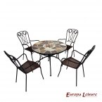 Europa Leisure Pomino Patio Table & 4 Verona Chairs Set
