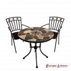 Europa Leisure Pompeii Bistro Table & 2 Malaga Chairs Set