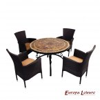 Europa Leisure Santa Susanna Dining Table & 4 Stockholm Brown Chairs Set