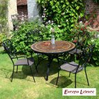 Europa Stone Santa Susanna Dining Table with 4 Verona Chair Set