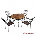 Europa Leisure Santa Susanna Dining Table & 4 Verona Chairs Set