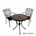 Exclusive Garden Tobarra 76cm Bistro Table with 2 Malaga Chair Set