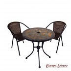 Europa Leisure Tobarra Bistro Table & 2 San Luca Chairs Set