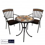 Exclusive Garden Arlington Bistro Table & 2 Kingswood Chairs Set
