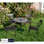 Exclusive Garden Arlington Patio 91cm & 4 Kingswood Chairs