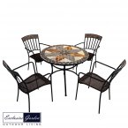 Exclusive Garden Arlington Patio Table & 4 Kingswood Chairs Set