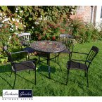 Exclusive Garden Belmont Patio 91cm Table & 4 Kingswood Chairs