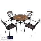Exclusive Garden Belmont Patio Table & 4 Kingswood Chairs Set