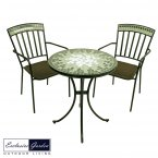 Exclusive Garden Berwick Bistro Table & 2 Berwick Chairs Set