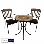 Exclusive Garden Clandon Bistro Table & 2 Kingswood Chairs Set