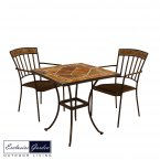 Exclusive Garden Clandon Square 71cm with 2 Kingswood Chair Set