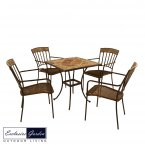 Exclusive Garden Clandon Square Table & 4 Kingswood Chairs Set