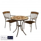 Exclusive Garden Dalton Bistro Table & 2 Kingswood Chairs Set