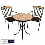 Exclusive Garden Thornton Bistro Table & 2 Thornton Chairs Set
