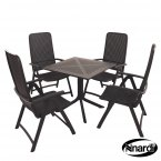 Nardi High Range Clip Table with 4 Darsena Chair Set Anthracite