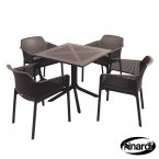 Nardi Clip Table & 4 Net Chairs Set - Anthracite
