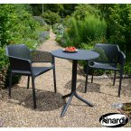 Nardi Step Table & 2 Net Chairs Set - Anthracite