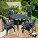 Nardi Anthracite Toscana 100 Plain with 4 Beta Chair Set