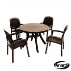 Nardi Toscana 100 Table Plain & 4 Beta Chairs Set - Anthracite