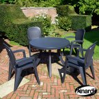 Nardi Anthracite Toscana 100 Plain 4 Creta Wicker Chair Set