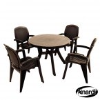 Nardi Toscana 100 Table Plain 4 Creta Chairs Set - Anthracite