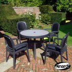 Nardi Anthracite Toscana 100 Ravenna with 4 Beta Chair Set