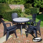 Nardi Anthracite Toscana 100 Ravenna  4 Creta Wicker Chair Set