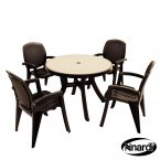 Nardi Toscana 100 Table Mosaic 4 Creta Chairs Set - Anthracite
