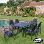 Nardi Anthracite Toscana 165 Plain with 6 Beta Chair Set