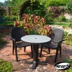 Nardi Coffee Marte 78 Ravenna with 2 Creta Wicker Chair Set