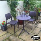Nardi Coffee Step Table with 2 Bistrot Chair Set
