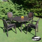 Nardi Coffee Toscana 100 Plain with 4 Beta Chair Set