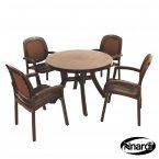 Nardi Toscana 100 Table Plain & 4 Beta Chairs Set - Coffee